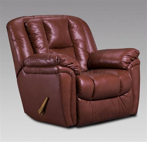 maroon leather recliner burgundy leather transitional living room w recliner mechanism