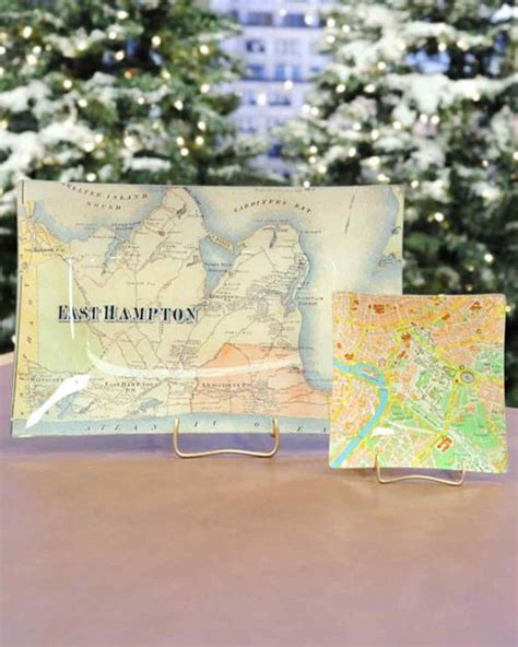Decoupage Map - cool diy decoupage projects