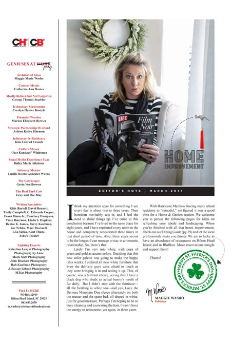 magazine layout notes hilton head magazines ch2 cb2 editor s note march 2017