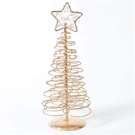 8 quot gold spun spiral wire tree table decor christmas