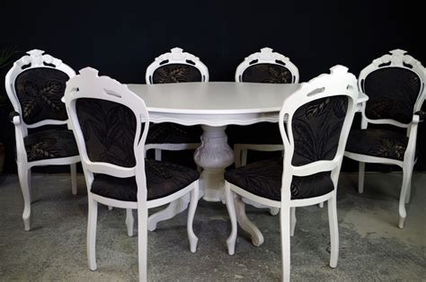 style dining tables and chairs style dining table with 6 louis chairs painted