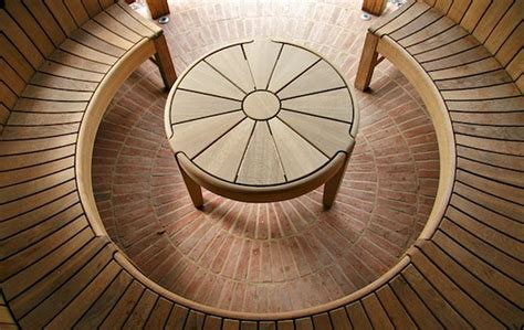 round wooden bench curved wooden bench for garden and patio homesfeed