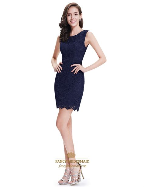 Sleeveless Lace Cocktail Dress simple navy blue sleeveless sheath lace