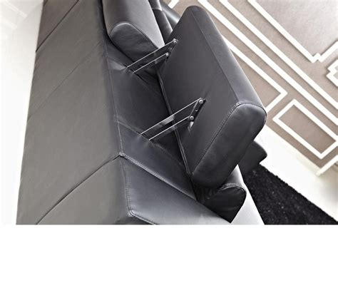 modern bonded leather sectional sofa dreamfurniture com 8010c modern black bonded leather