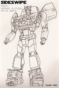 sideswipe colouring pages