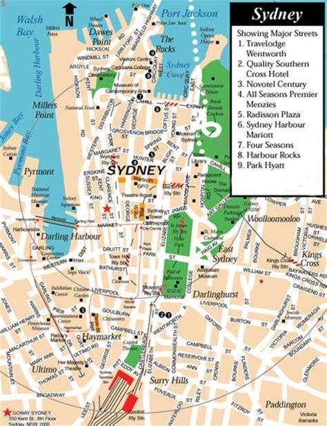 map of australia with sydney sydney map map of sydney australia maps travelquaz