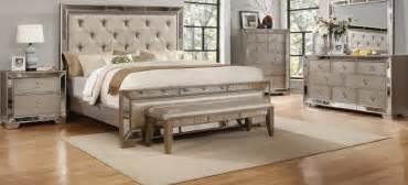 Celine antique silver mirror panel bed usa furniture online