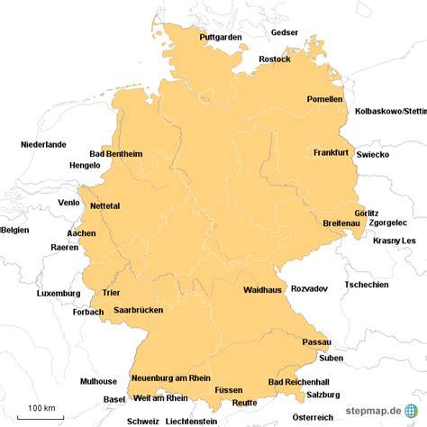 deutsches büro grüne karte formular grenz 252 berg 228 nge deutschland phil248 landkarte f 252 r