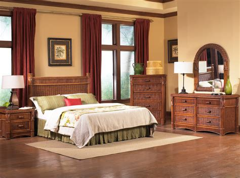 Tropical Style Bedroom Furniture Barbados Rattan Bedroom Furniture Tropical Bedroom New York By Wicker Paradise