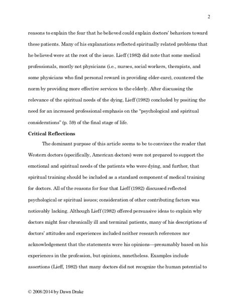 review structured reflective template article review writing sle
