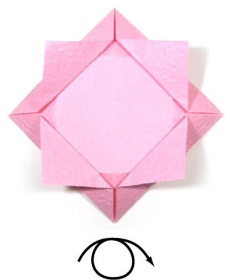 Simple Origami Lotus Flower - how to make an easy origami lotus flower page 6