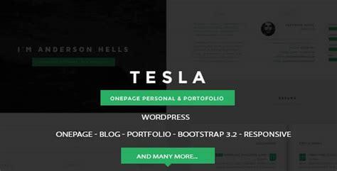 Tesla Buisness Card Template by Tesla Onepage Personal Portofolio Theme