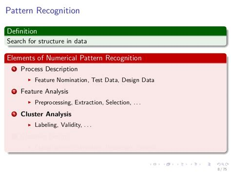 numerical pattern recognition test 25 machine learning unsupervised learaning k means k centers