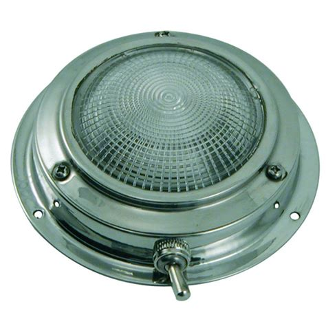 Stainless Steel Ceiling Light 000443 Ceiling Stainless Steel 110mm Euromarine 12v With Switch To 23 75 Euromarine
