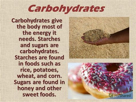 carbohydrates give energy презентация на тему quot food and nutrition calories food