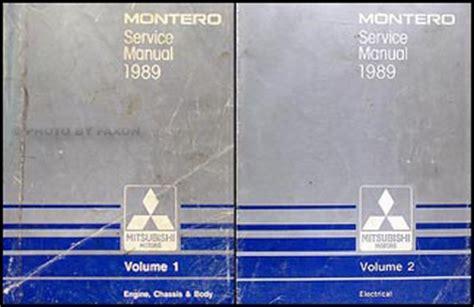 1989 mitsubishi mirage repair shop manual set original 1989 mitsubishi montero repair shop manual set original
