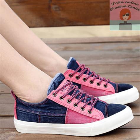 Sneakers Wanita Pink jual sepatu wanita pink flatshoes sneakers