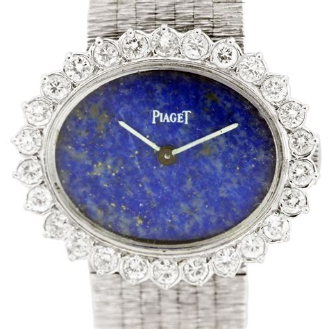 piaget 18k white gold and lapis