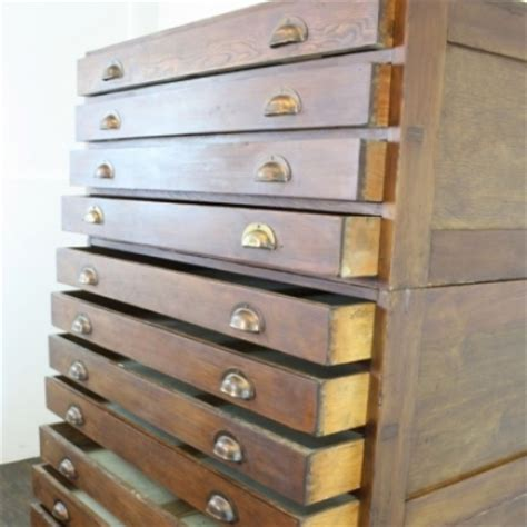 oak drawer handles uk 1930s 12 drawer oak plan chest with brass cup handles