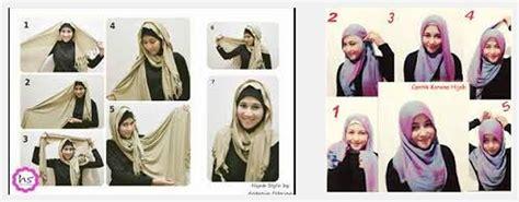 model jilbab terbaru dan cara tutorial cara memakai trend model jilbab elzatta segi