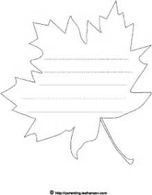 shaped writing template maple leaf shape paper with lines for writing letters