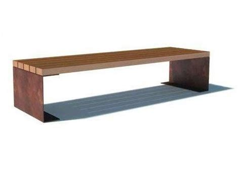corten bench corten steel benches and street furniture on pinterest