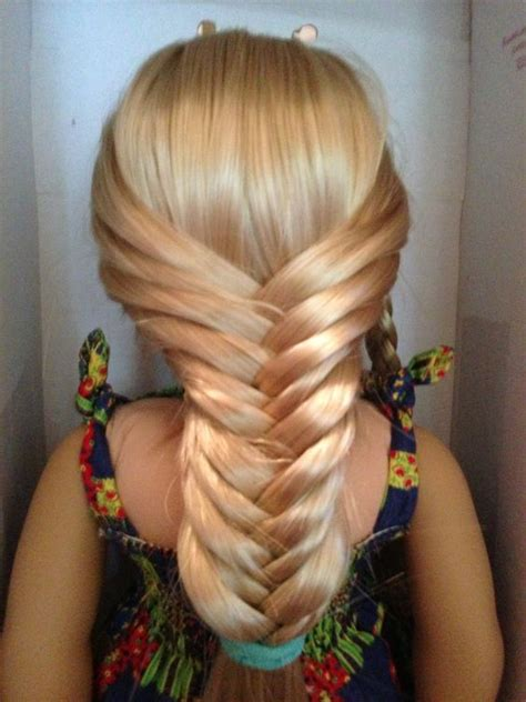 easy hairstyles for american dolls with hair fishtail braids fishtail and american dolls on