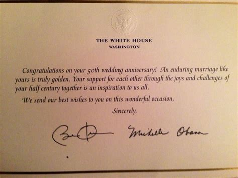 Wedding Congratulations From President by Mail Invitations To President And Obama Your