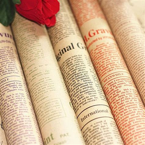 Craft Paper Suppliers - vintage newspaper diy gift wrapping paper flower bouquet