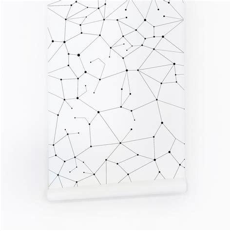 constellation pattern wallpaper  nursery interior