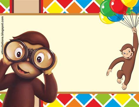 imagenes de cumpleaños jorge invitaci 243 n jorge el curioso pi 241 ata rafael pinterest