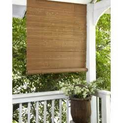 Bamboo Rollup Blinds Patio Lewis Hyman Fruitwood Brown Outdoor Roll Up Patio Shade