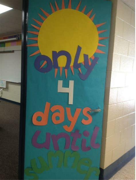 Summer Door Decorations by This Countdown To Summer Door Door Decoration