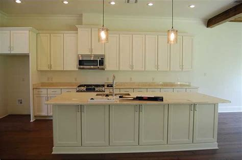 Kitchen island with cabinets and countertop extending on