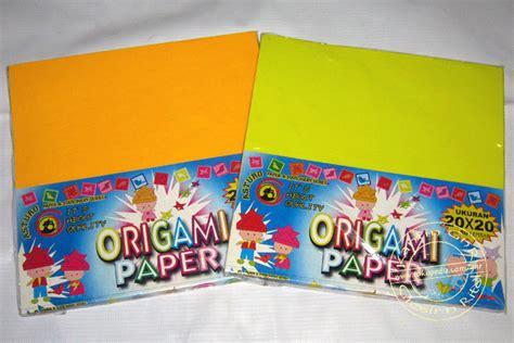 jual kertas lipat origami 20 x 20 cm asturo kantin