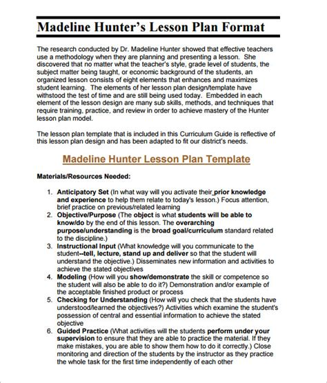 lesson plan template 60 free word excel pdf format