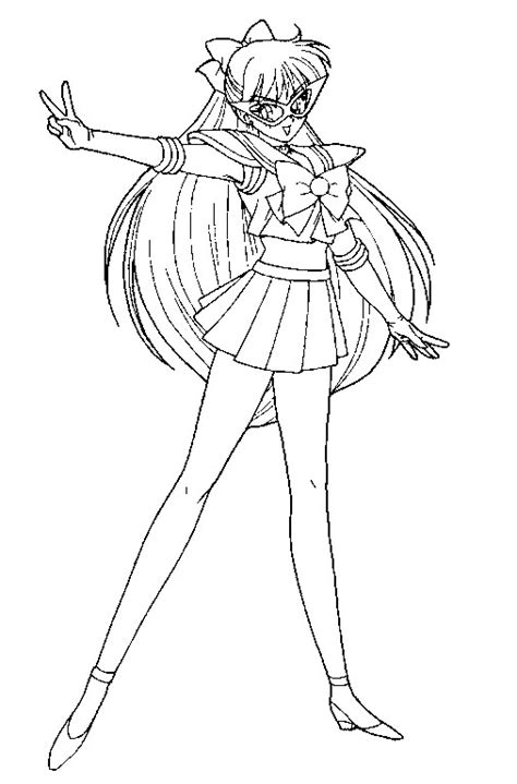 Sailor V Coloring Pages by Codename Sailor V Coloring Page By Sailortwilight On