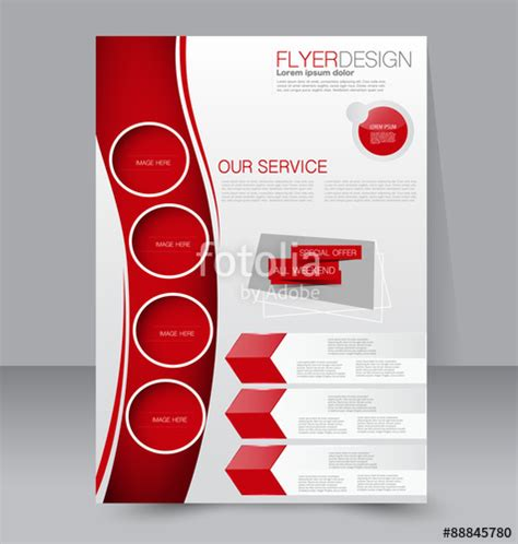 brochure template red quot flyer template business brochure editable a4 poster for