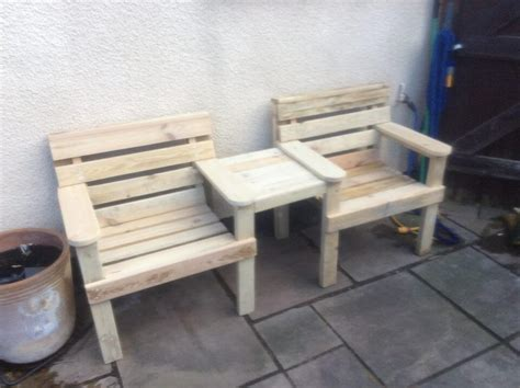 double benching wood pallet outdoor bench double chair