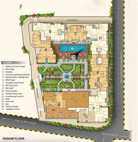 layout plan updated new residential property residential project in bandra
