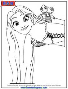 tangled rapunzel and pascal characters coloring page h