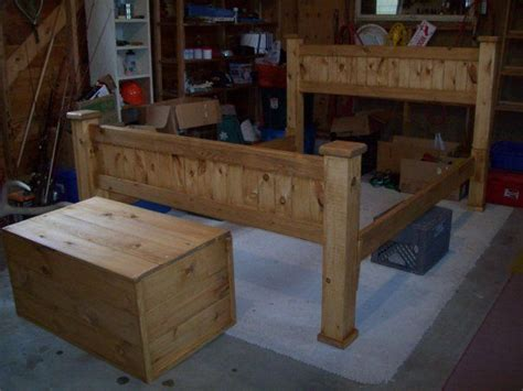 Pine Bed Frame Plans How To Build A Cabin Bed Frame Woodworking Projects Plans