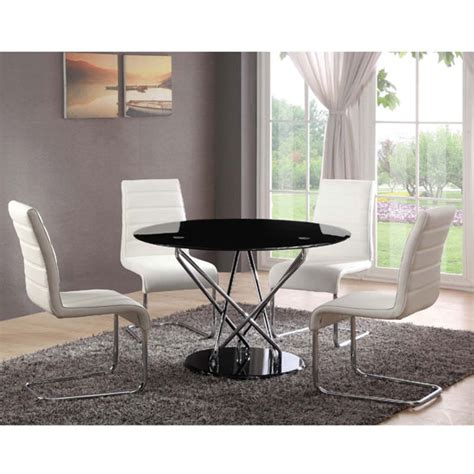 Toulouse Dining Table And Chairs Toulouse Glass Dining Table With 4 Dining Chairs White