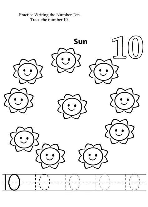 www printable number 10 preschool worksheets learning printable
