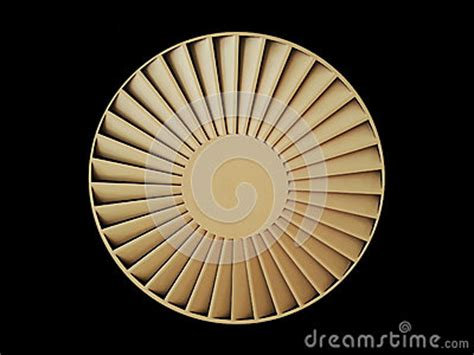 Circular Ceiling Fan by Ceiling Ventilation Circular Fan Isolated Stock Photo