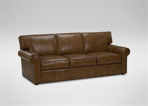 ethan allen leather sofas retreat roll arm leather sofa ethan allen