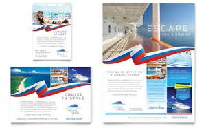 Advertising Template by Cruise Travel Flyer Ad Template Design