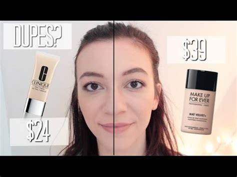 Makeup Forever Mat Velvet 35 by Makeup Forever Mat Velvet Vs Clinique Free Matte