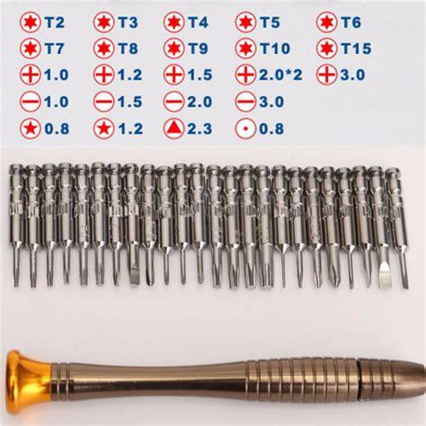 Obeng Torx Set 25 In 1 Repair Tools Kit For Iphone 4 5 Berkualitas screwdriver set 25 in 1 torx screwdriver repair tool set for iphone cellphone tablet pc