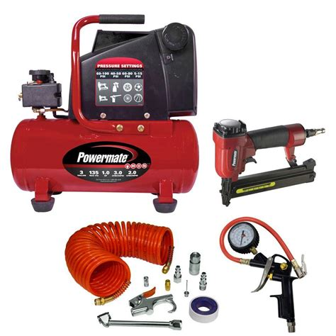 powermate 3 gal hotdog air compressor with accessories vpp1080318 kit the home depot
